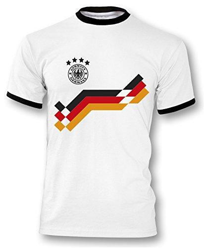 Luckja EM 2016 Trikot Deutschland Fanshirt Motiv 20 Herren Rundhals T-Shirt
