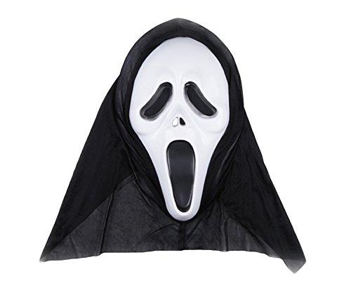BRLMALL Scary Halloween-Maske für Kinder und Erwachsene, Kostüm-Party Props (Scream) (Scary Movie Halloween Kostüme)