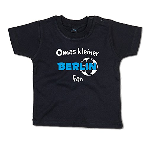 Omas Kleiner Berlin Fan Baby-T-Shirt 266.0446 (12-18 Monate, schwarz)