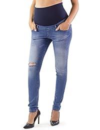 HyBrid /& Company Femme Super Confortable/Jean/Extensible/Bootcut/de maternit/é