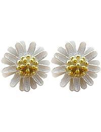 Lily joyas con cristal de Swarovski, con flor, pendientes para mujeres