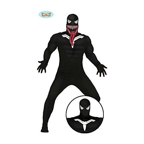 Kostüme Superhelden (Spinnen Superheld mit Fratze Ganzkörper Kostüm für Herren Gr. M/L,)