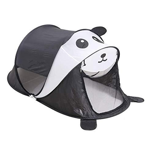 Sanqing Kinder-Pop-Up-Zelt mit Panda-Form, faltbares Pop-Up-Zelt für Kinder im Innen- und Außenspielhaus, 75 cm x 35 cm (DxH) (Panda),Black