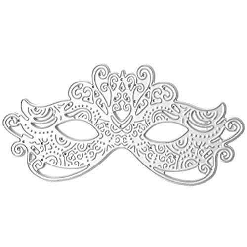 YuzhouGJ Halloween Spinne und Spinnennetz Prägung Schneide Stanzen Stempel Set für Bastelarbeiten Scrapbooking Album Papier Handwerk Dekoration - Style16-lace Maske (Aus Papier Halloween-masken Machen)