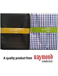 Men's Unstiched Multicolor Pre-Matched Raymond Maker Shirt & Trouser Combo Gift Pack