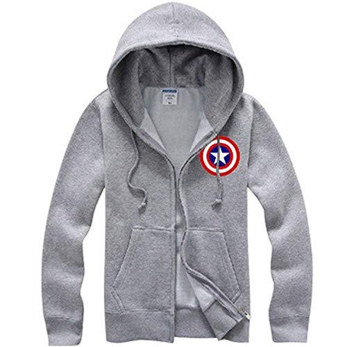 weyb Rächer verdicken Kleidung Langarm-Sweatshirt Hoodie Marvel Movies Captain America Sweatshirt 6-XXL (Captain Kinder Für America-kleidung)