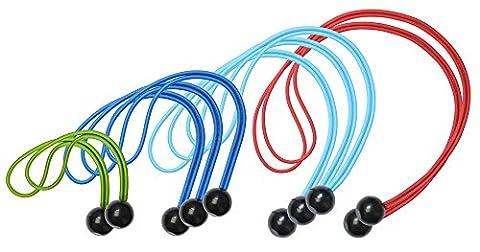 Master Lock Cargo, Seil Gummiband Organizer 50 cm Multicolore (Verde/Azzurro/Blu/Rosso)