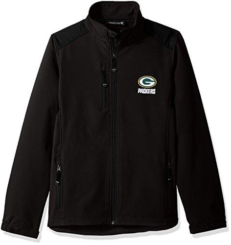 NFL Green Bay Packers Herren Softshell Jacke, Medium, Schwarz