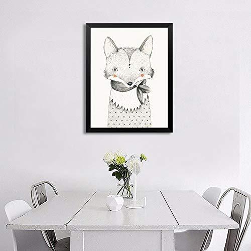 st Modernen Einfacher Niedlich Tiere Familie Wohnzimmer Schlafzimmer Wand Dekoration Inkjet Malerei,NoFrameB,21x30cm ()