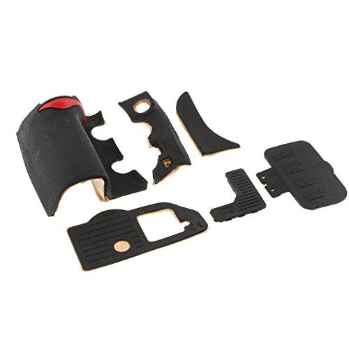 perfk 6 Stück Griff Gummi Einheit Reparaturteil Für Nikon D700 Vorne/Hinten / Seiten Deckel - Deckel Einheit
