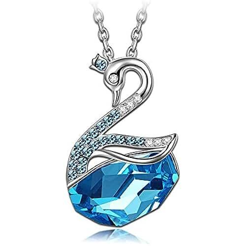 ofertas para el dia de la madre LADY COLOUR - Princesa Cisne - Collar mujer con cristales de SWAROVSKI® - la coleccion Nature