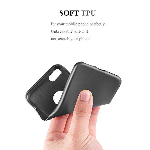 Cadorabo - >               Apple iPhone 7               < TPU Ultra Slim matte Metallic Silikon Hülle - Case Cover Schutz-Hülle in METALLIC-ROT METALLIC-GRAU