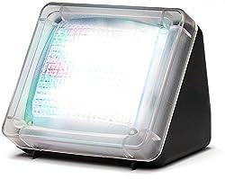 Movoja® [ LED TV Simulator | Fake-TV ] Fernseher Attrappe inkl. Netzteil | Einbruchschutz / Home Security [ Lichtsensor und Timer ] Verbesserte Lichtabfolge MODELL 2017 mit 20 farbigen LED's | 3 Programme - Movoja®