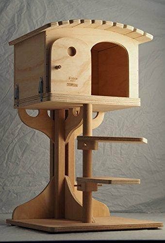 Novità Blitzen, Robinson L, Fantastico Gioco Cuccia Indoor Per Gatti, Cat Bed, Cat House, Scratcher, Made In Italy 100%