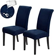 Joccun Chair Covers for Dining Room Set of 2,Water Repellent Dining Chair Slipcovers Stretch Dining Room Chair