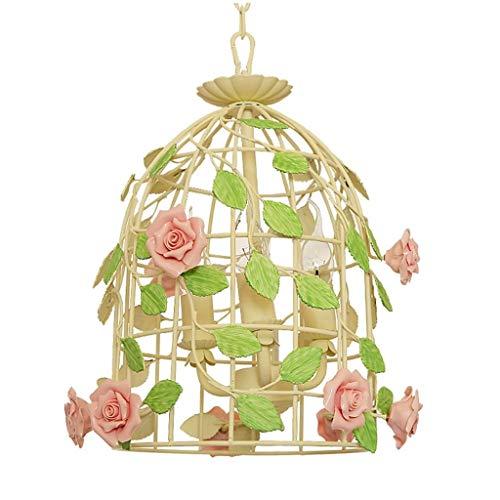 Tao-plafoniere lampadario birdcage creativo in ferro battuto giardino camera da letto balcone lampada