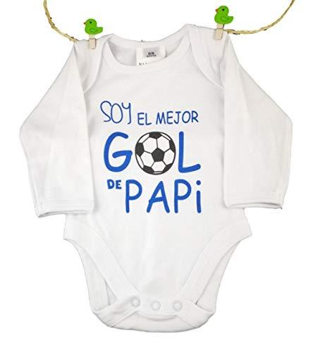 Body Bebe Frase: Soy el Mejor GOL de Papi Talla 0-6 Meses
