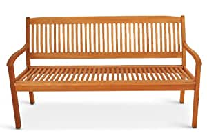 SAM Gartenbank 157 cm Maracaibo, Akazienholz geölt, FSC® 100% Zertifiziert, 3-Sitzer Gartenmöbel, für Terrasse, Balkon