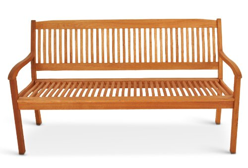 SAM® Gartenbank Maracaibo aus Akazienholz, FSC® 100% zertifiziert, 157 cm breit, 3-Sitzer Holzbank, geölt, Gartenmöbel aus Holz, Massivholzbank für Terrasse & Balkon