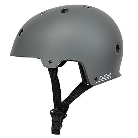 Critical Cycles 2452 Klassischer CM2 Helm, Pendlerrad/Skate/mehrere Sportarten - Matt Graphit, S/51 - 55 cm