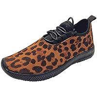 TUDUZ Zapatos Deporte Al Aire Libre Mujer Zapatillas Suaves Ligeras Zapatillas Running Estampado Leopardo