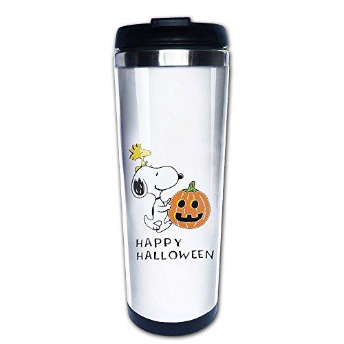 (Snoopy Happy Halloween Kürbis Travel Kaffee Tassen, Tee Tasse)