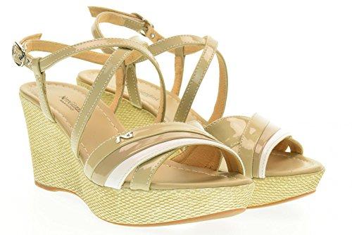 NERO GIARDINI scarpe donna sandali zeppa P717616D/701 Sabbia