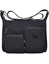 fanfanbags Large Cross Body Bag over Shoulder Travel Bags Womens Messenger  School Bag Nylon College Satchal b855c315f6411