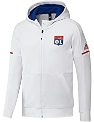 2017-2018 Lyon Adidas Anthem Jacket (White)