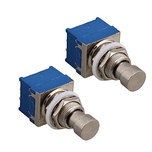 yibuy-silber-blau-3pdt-9pin-effekte-pedal-fussschalter-w-lockwasher-nylon-waschmaschine-schalter-2-s