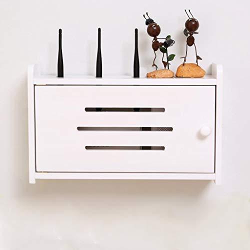 LXYFMS Aufbewahrungsbox Socket Finishing Box Halterung/Halterung WiFi-Routerkabel Netzstecker Kabel TV-Box Set-Top-Box schwimmendes Regal Router-Rack (Color : B, Size : 40x10x25cm) (Einstellbar Tuch Rack)