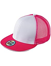 Myrtle Beach Stylish mesh cap with sandwich (white/magenta)