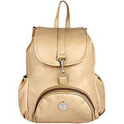 Taps fashion Women's Stylish backpack Cream-T-20