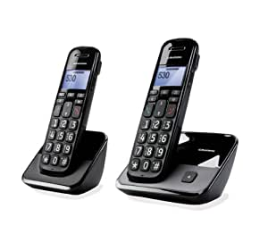 sagemcom gurndig d530 duo schnurloses dect telefon elektronik. Black Bedroom Furniture Sets. Home Design Ideas