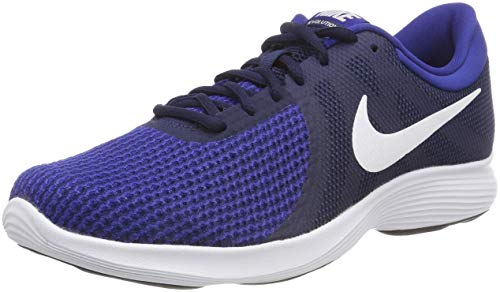 Nike NIKE REVOLUTION 4 EU Scarpe da Ginnastica Basse Uomo, Multicolore (Midnight Navy/White/Deep Royal Blue 414), 41 EU