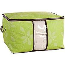 Sronjn Oversize, vestiti Silos di immagazzinamento, di biancheria da letto, coperta Organizzatore contenitori di stoccaggio, traslochi Borsa Verde(60*42*36 cm)