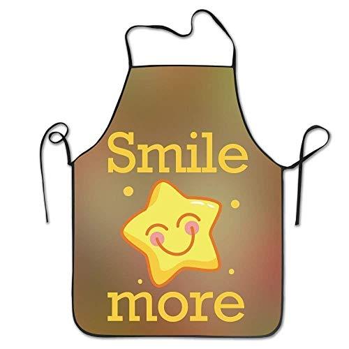 HTETRERW Smile More Women's Funny Creative Print Cooking Aprons (König Bob Kostüm)