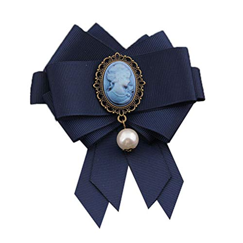PPX Schleifenbrosche Strass Brosche Damen Vintage Broschennadeln Bekleidungs Schmuck (Blau/1 Stück)