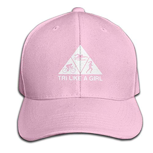Imagen de triathlon like a girl adjustable baseball caps unstructured dad hat 100% cotton black