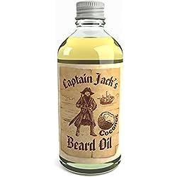 Huile Revitalisante Pour Barbe du Pirate Captain Jack 100ml Fragrance Noix de Coco Édition Limitée (Coconut)