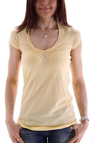 banana-republic-t-shirt-donna-giallo-xl