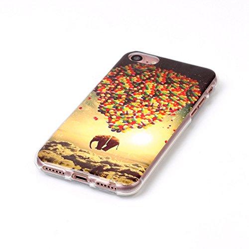Voguecase® für Apple iPhone 7 Plus 5.5 hülle, Schutzhülle / Case / Cover / Hülle / TPU Gel Skin (Kassette 02) + Gratis Universal Eingabestift Wolken und Elefanten