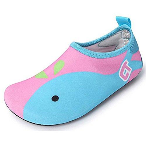 SITAILE Aquaschuhe Barfuß Schuhe Schwimmschuhe Badeschuhe Wasserschuhe Surfschuhe Sportschuhe für Kinder Rosa EU 26-27 (Barfuß-schuhe)