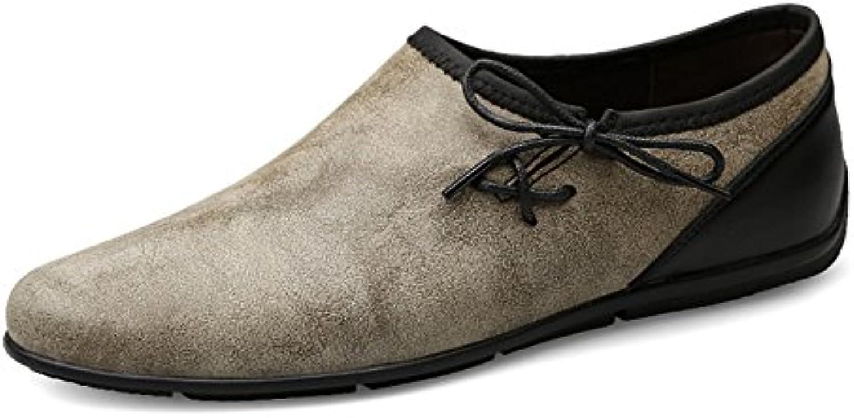 Zapatos de Hombre de Microfibra Transpirable Casual Zapatos Cómodos Zapatos de Conducción Mocasines y Slip-Ons...