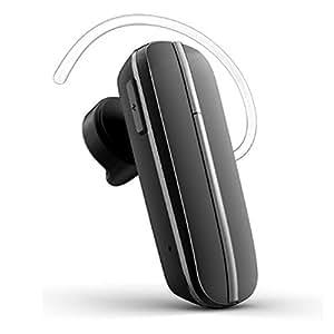 Vida IT Casque Stéréo 3.0 Oreillette Bluetooth (Noir) pour Karbonn - K65 Buzz Portable Téléphone Mobile - Avec A2DP v1.2 pour musique en streaming et voix et audio - Haute qualité - Contrôle du volume