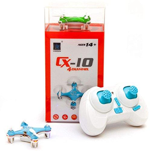 Mini RC Quadrocopter 2,4 GHz Ferngesteuerter Gyro Quadcopter Micro Drohne RTF mit 4-Kanal Fernsteuerung