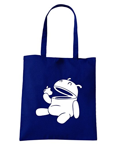 T-Shirtshock - Borsa Shopping FUN0577 android scarfs apple eating eats t shirt Blu Navy