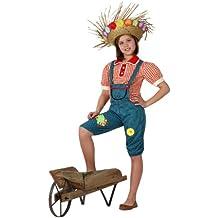 Atosa - Disfraz de granjera para niña, talla 5 - 6 años (16021)