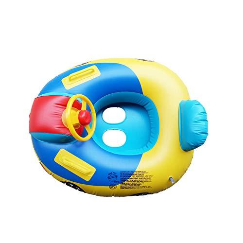 FXQIN Baby Pool Float, Sommer lenkrad schwimmring Auto aufblasbares Spielzeug Kleinkinder schwimmsitz Boot für Kinder Kleinkinder (blau) (Boot Spielzeug, Float)