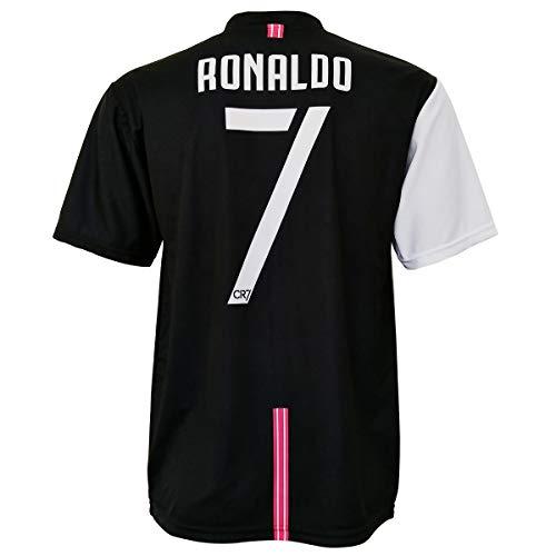CR7 MUSEU Maglia Cristiano Ronaldo 7 Replica Ufficiale Autorizzata 2019-2020 Bambino (Taglie-Anni 2 4 6 8 10 12) Adulto (S M L XL) con Firma Stampata - Leggere Note (6/7 Anni)